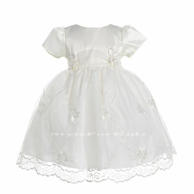 BABY GIRL IVORY/CREAM CHRISTENING WEDDING BRIDESMAID SPECIAL OCCASION DRESSES