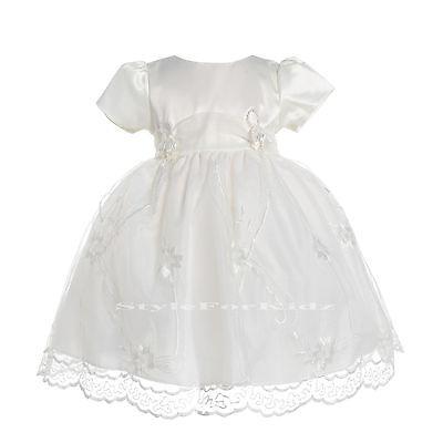 BABY GIRLS IVORY//CREAM CHRISTENING WEDDING BRIDESMAID SPECIAL OCCASION DRESSES