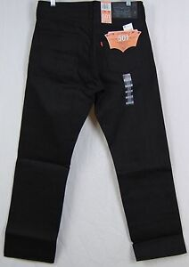 Levi&amp039s 501-1582 Black Fill Shrink-To-Fit Jeans All Black NWT