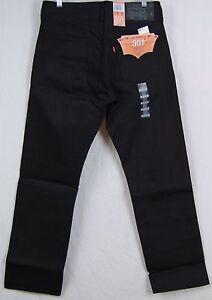 4d7c8b3baf0 Levi's 501-1582 Black Fill Shrink-To-Fit Jeans All Black NWT All ...