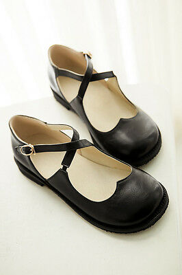 Womens Flat Platform Buckle Mary Jane Pumps Casual Fashion New SHoes Plus Size