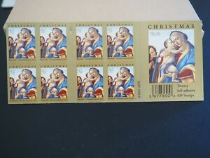 Botticelli Cleveland Museum of Art Christmas Stamps Booklet of 20 X $.42
