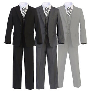 Boltini-Italy-Kids-Boys-Formal-5PC-Suit-Set-Jacket-Shirt-Tie-Vest-Pants