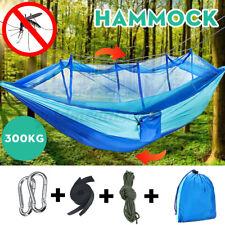 Mehrpersonen Hängematte bis 300kg Moskitonetz Hammock Camping Stabhängematt