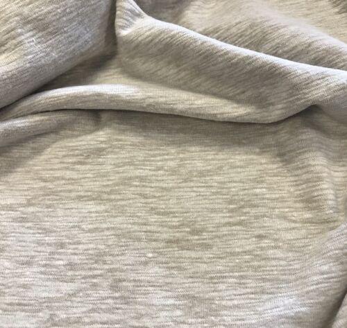 Modelo Sand Caramel Soft Linen Slub Stretch Jersey Knit Fabric