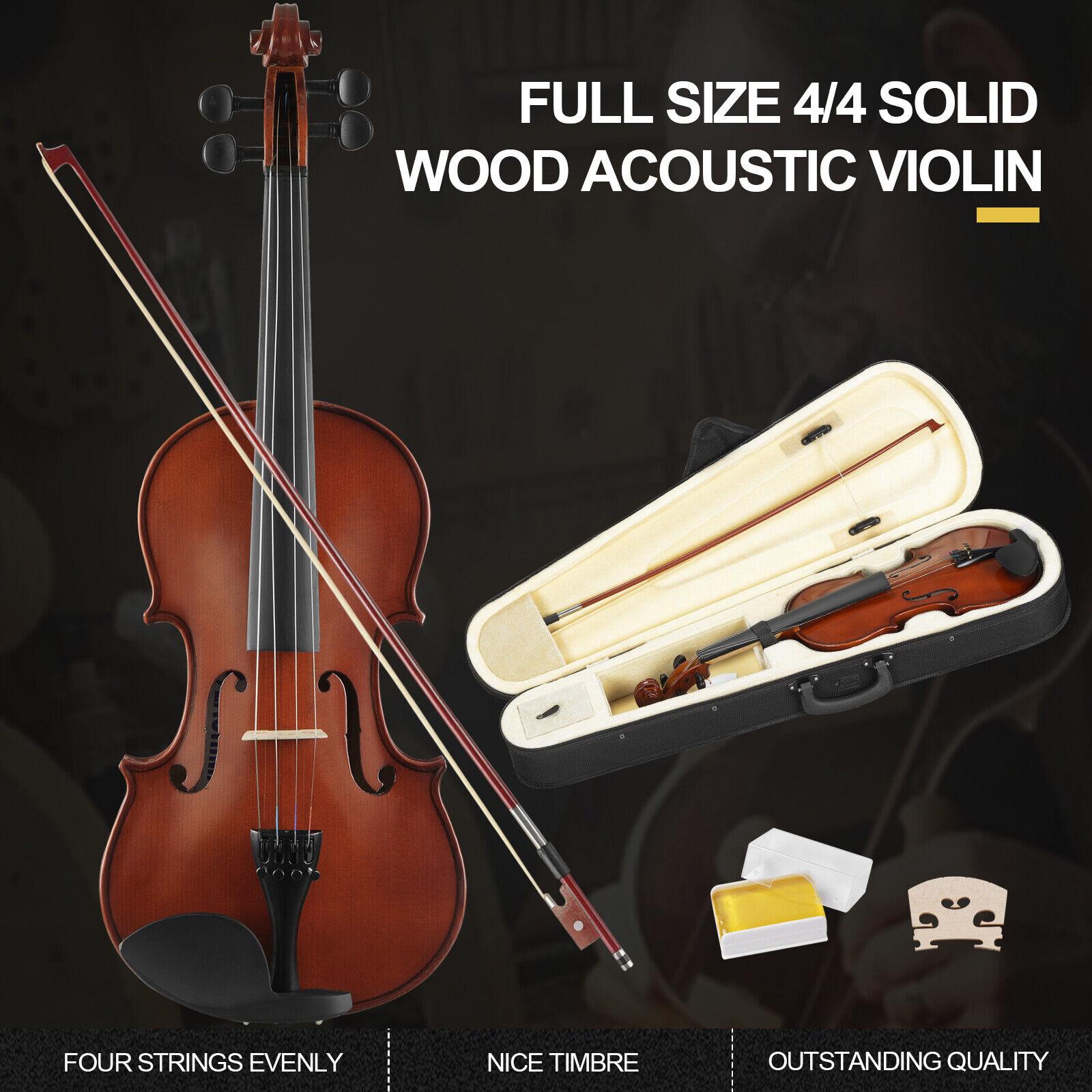 4 4 Violine Geige Set Geigenset mit Bogen Koffer für Anfänger Tangerinefarbe gut
