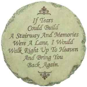 If-Tears-Could-Build-A-Stairway-Memorial-Home-Garden-Stepping-Stone-Wall-Plaque