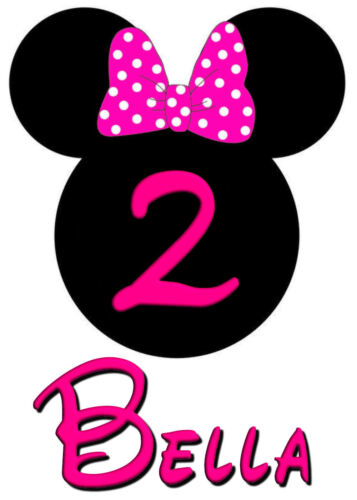 MINNIE MOUSE BIRTHDAY ANY AGE IRON ON TRANSFER  IDEAL FOR BIRTHDAY PARTIES TUTU