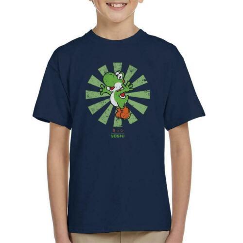Yoshi Retrò giapponese Super Mario KID/'S T-shirt