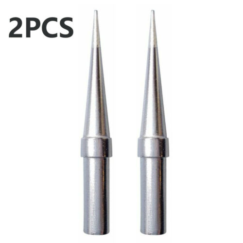 2pcs Silver 1//64 ETS Conical Soldering Iron Tips Stations For Weller WES51 3mm
