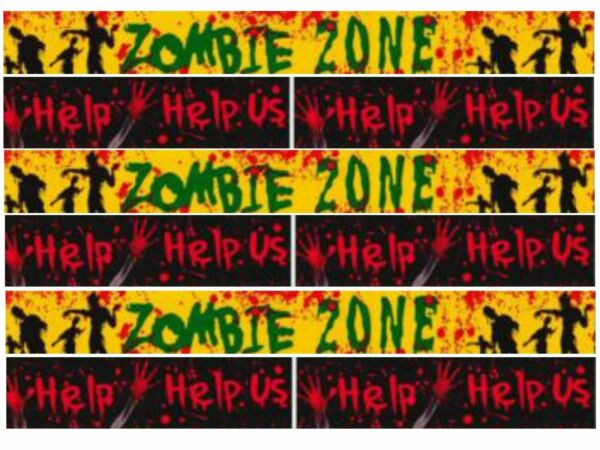 12m Zombie Halloween Avvertimento Nastro Spavento Banner Garland Spaventoso Scena Decorazione Ricco E Magnifico