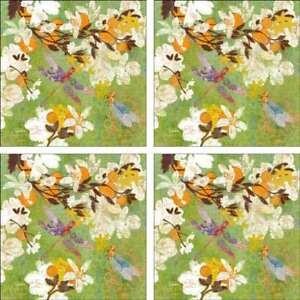 Floral-Accent-amp-Decor-Tile-Set-Evelia-Ceramic-Backsplash-Flower-Art-OB-ES186aAT