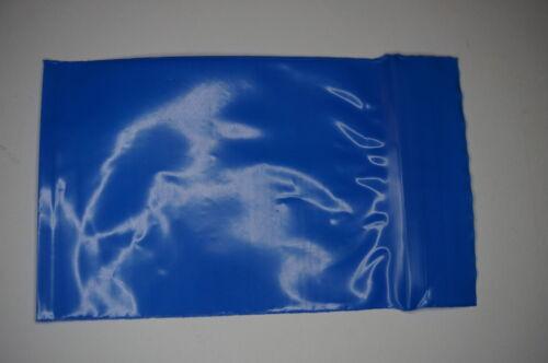 300 pezzi zip sacchetto PE 60x80mm Blu Chiusura a Pressione 50µ BUSTINA