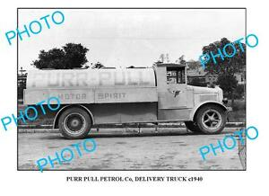 OLD-LARGE-PHOTO-OF-PURR-PULL-OIL-TRUCK-c1940-SYDNEY-1