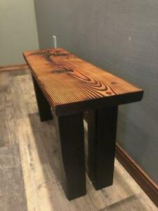Outstanding Details About Gorgeous Shou Sugi Ban Entryway Bench Modern Rustic Reclaimed Salvaged Gmtry Best Dining Table And Chair Ideas Images Gmtryco