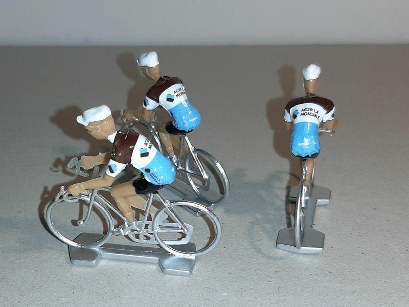 3 swimsuits stickers for cyclists miniatures teams 2020 tour de france