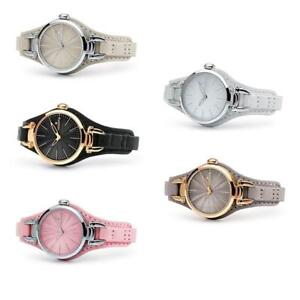 Orologio-Donna-HOOPS-JOLIE-Pelle-Rose-Colorato-Bianco-Nero-Rosa-NEW-Collection