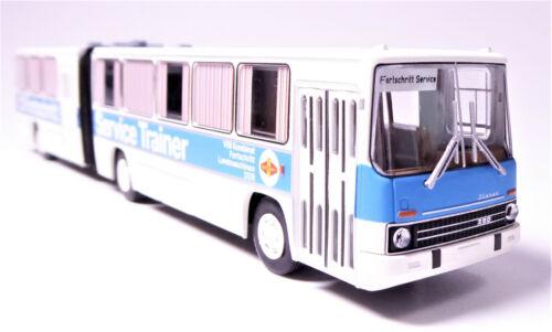 H0 BREKINA Ikarus 280.03 Gelenkbus Überlandbus Fortschritt Service Trainer 59756