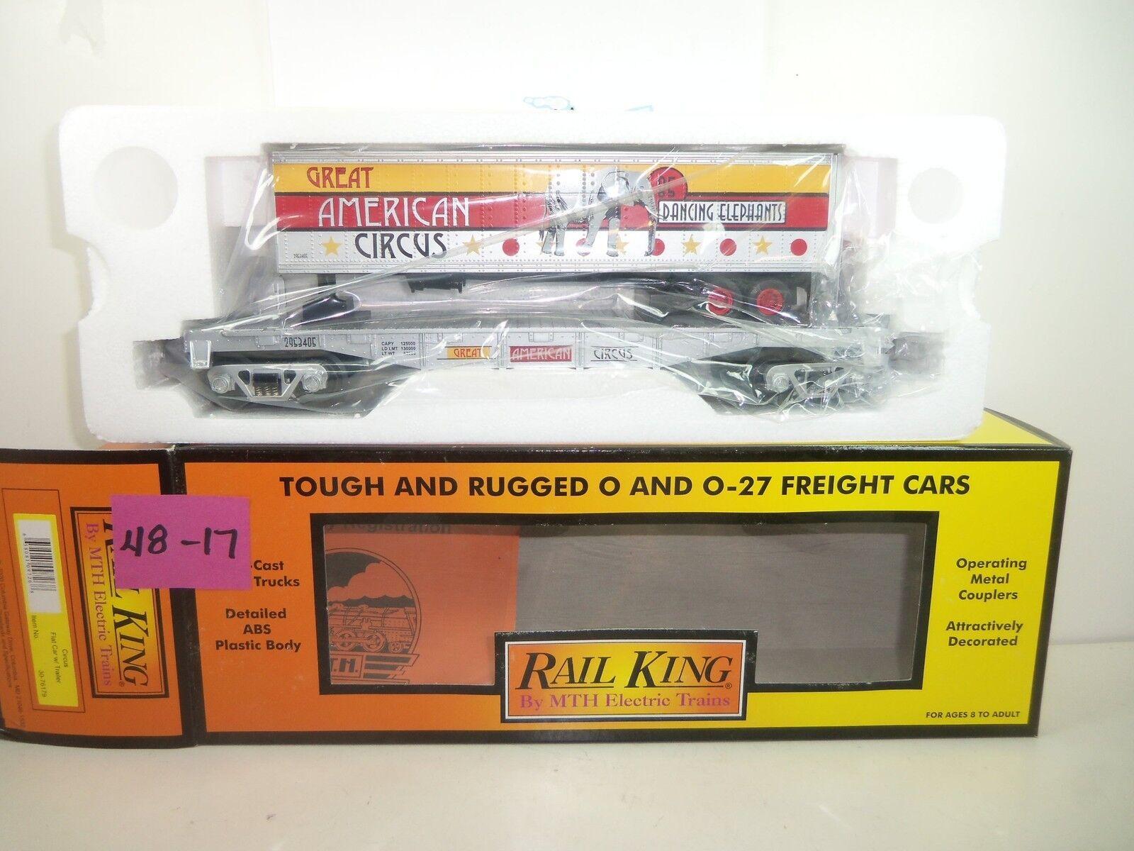 Rail King Circus Flatcar w Trailer SALE