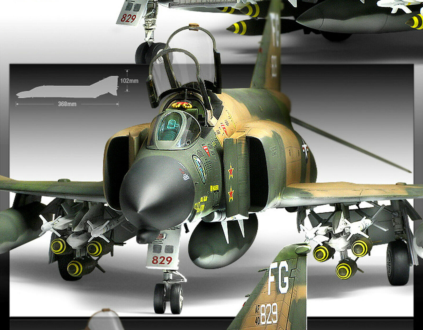 [ACADEMY] 1 48 Assembly F-4C Vietnam War  12294  U. S. Aircraft Model Kit