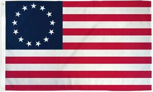 Betsy-Ross-3x5-ft-Poly-Banner-Flag-13-Stars-1776-American-Colonial-USA-SELLER