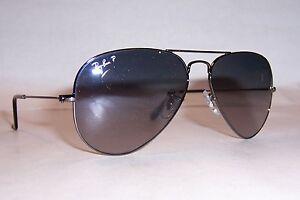 4bcbc8c8a4 NEW RAY BAN AVIATOR Sunglasses 3025 004 78 GUNMETAL BLUE 58MM ...