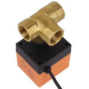 2-3-Wege-1-Zoll-230V-Zonenventil-Kugelventil-DN20-DN25-Motorkugelhahn-Ventil