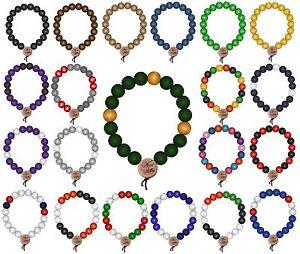FidèLe Wood Affranchis Deluxe Pearl Bracelet Perles Bois Chaîne Bracelet 6 9 12 Mm Master Dis-afficher Le Titre D'origine Emballage De Marque NomméE