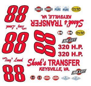 Salt City Shaker NOVA Salina Chevrolet 1//32nd Scale Slot Car Waterslide Decals