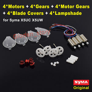 RC Drone Engine Motors with Gear Propellers Blades for SYMA X5UC//X5UW Quadcopter