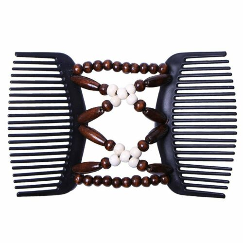 Easy Magic Wood Beads Double Hair Clip Stretchy Comb Women Hair Accessories New