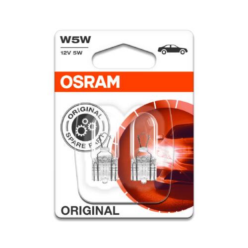2x Peugeot 308 Genuine Osram Original Number Plate Lamp Light Bulbs