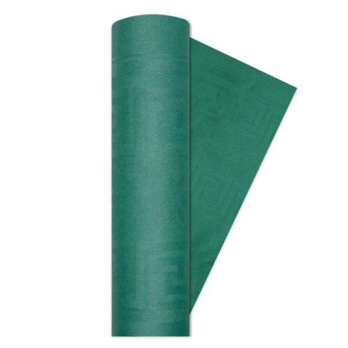 Franco Monfardini Tovaglia Di Carta Damascata Rotolo 1,20X7Mt Verde Scuro