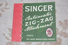 Zigzag Zigzagger 160990  Instruction Manual for Singer 221 221K Sewing Machine