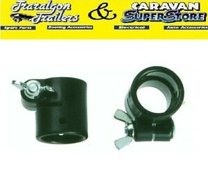 2x-annexe-awning-plastic-pole-colar-bracket-collar-with-wing-nut-and-bolt-AP19