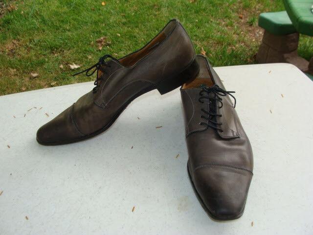 Santani Italian Leather Men's Dress shoes 11775 52 Size 7.5