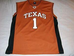 on sale a9851 8494b Details about TEXAS Longhorns 1 UT University Austin NCAA Starter  basketball jersey Men's XL