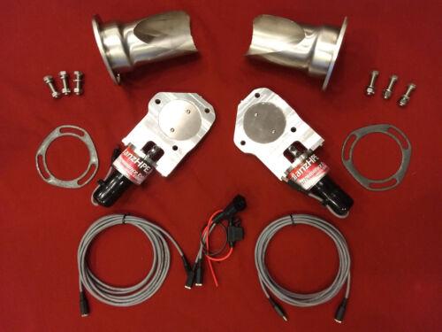 """NEW Electric Exhaust Cutout BadlanzHPE /""""Y-Neck/"""" SS DUAL 3.0/"""" 76mm  5YR WNTY!"""