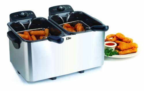 Fr MaxiMatic EDF-4080 Elite Platinum Stainless-Steel 8 New Quart Deep Fryer