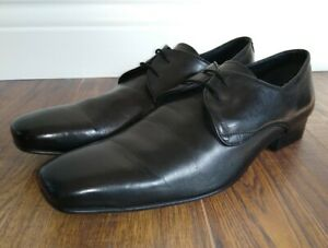 Austin Reed Mens Black Lace Up Derby Formal Shoes Uk 12 Ebay