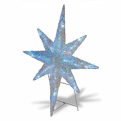Christmas 4 led lighted star of bethlehem outdoor hanging prop christmas 4 led lighted star of bethlehem outdoor hanging prop decoration ebay mozeypictures Image collections