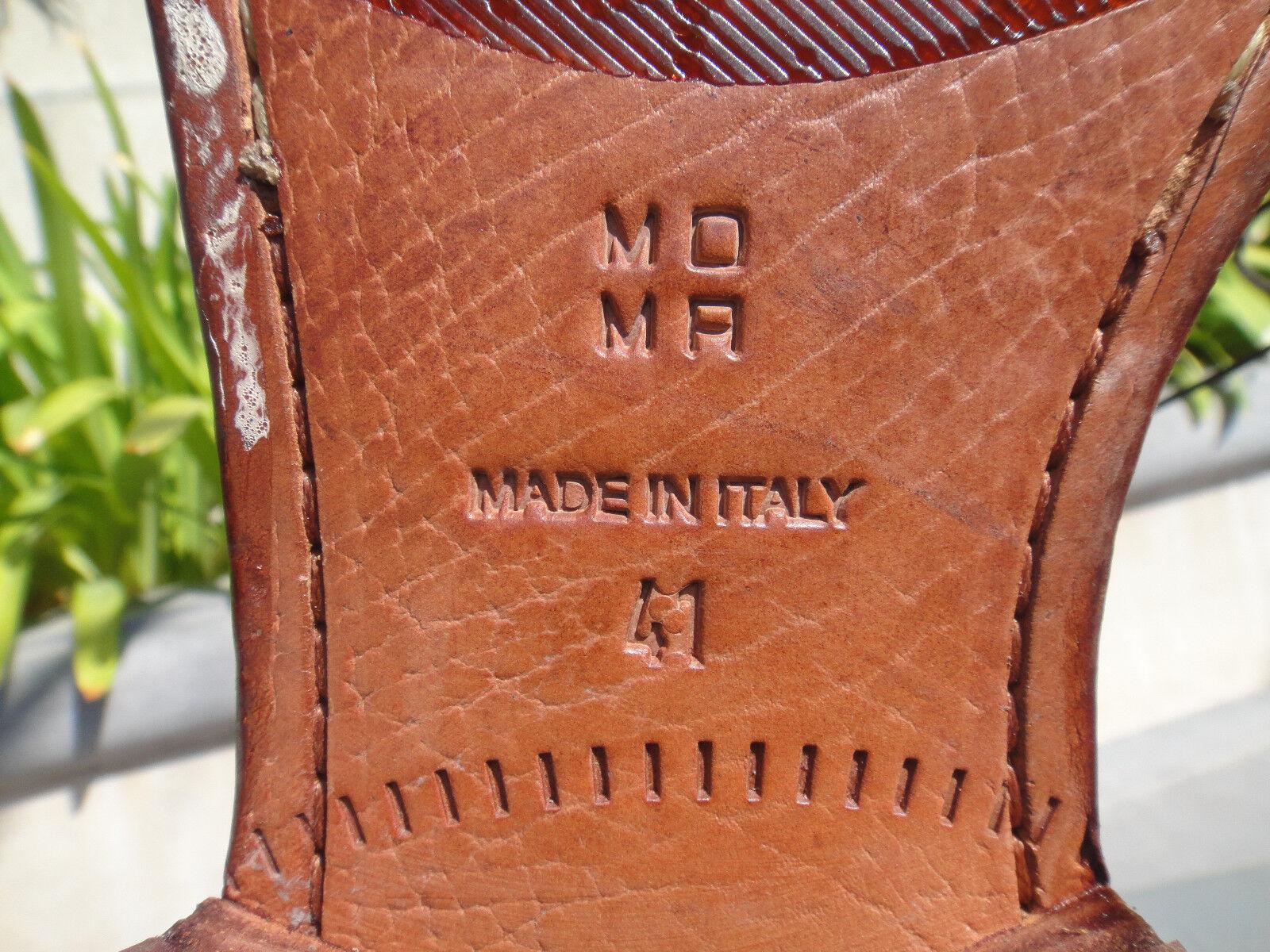 MOMA 16601-8C Splendid Cuoio, Tan Tan Tan Light Brown Pelle Uomo Sz EUR41 MSRP 240 445c27