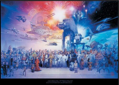 Star Wars XXL Poster Cast - Querformat - Galaxy Charaktere Fan Plakat 140x100 cm
