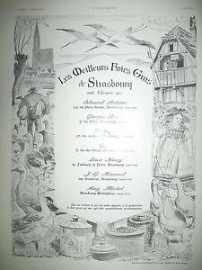 PUBLICITE-DE-PRESSE-ALSACE-FOIES-GRAS-DE-STRASBOURG-ILLUSTRATION-KANN-AD-1936