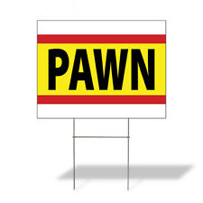 Weatherproof Yard Sign Pawn Outdoor Advertising Printing A Yellow Lawn Garden