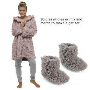 Women\'s Hooded Fleece Bath Robe Dressing Gown Wrap Housecoat Or ...