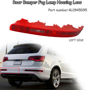 2x Car Left Right Reflective Bumper Fog Light Housing Red Lens For Audi Q7 06-15
