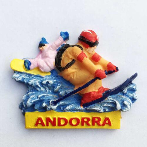 Andorra Ski Kühlschrankmagnet Harz Fridge Sticker Schi Souvenir Magnete Geschenk