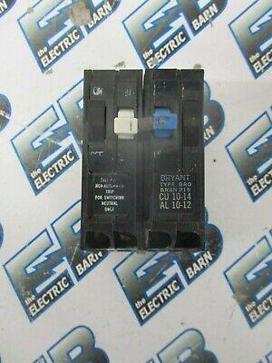 WARRANTY Bryant BR115 1 POLE 15 AMP 120 VOLT PLUG IN Circuit Breaker