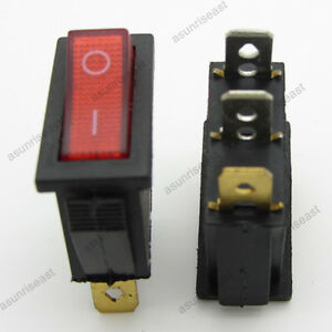 2-Red-3-Pin-SPST-ON-OFF-Light-Illuminated-Rocker-Boat-Switch-2-Posistion